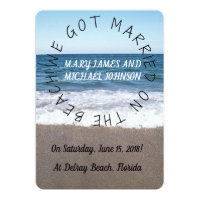 Beach At The Ocean Wedding Announcement