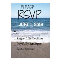 Beach At The Ocean Wedding RSVP Card
