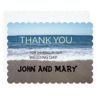 Beach At The Ocean Wedding Thank You Card