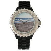 Beach At The Ocean Wrist Watch