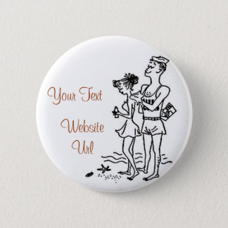 Beach Attraction Pinback Button
