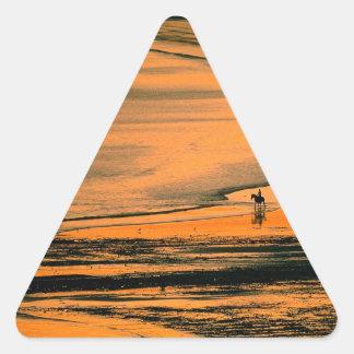 Beach Aubins Bay Jersey Channel Islands Sticker