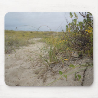 Beach Autumn Wildflowers Mouse Pad