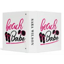 beach babe 3 ring binder