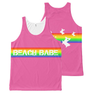 Beach Babe All-Over Print Tank Top