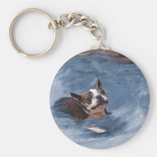 Beach Babe Basic Round Button Keychain