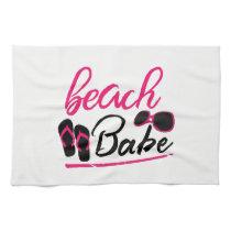 beach babe hand towel