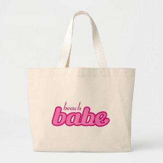 """""""beach babe"""" hot pink graphic tote bag"""