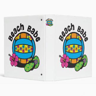 Beach Babe Volleyball 3 Ring Binder