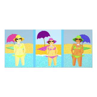 Beach babes card