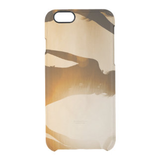 Beach Babes Sunset Silhouette Enjoying the Sun Clear iPhone 6/6S Case