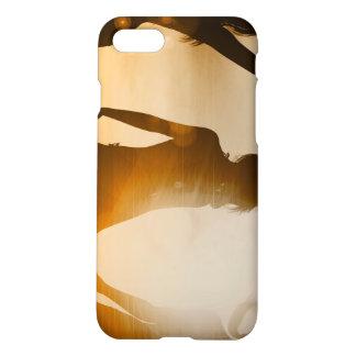 Beach Babes Sunset Silhouette Enjoying the Sun iPhone 8/7 Case