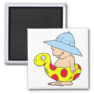 Beach Baby 2 Inch Square Magnet