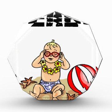 Beach Themed Beach Baby Acrylic Award