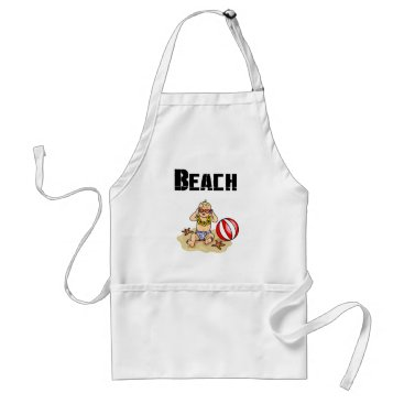 Beach Themed Beach Baby Adult Apron