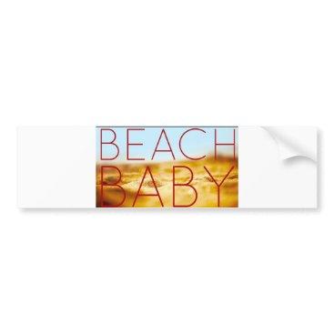 Beach Themed Beach baby bumper sticker