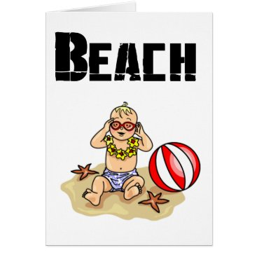 Beach Themed Beach Baby Card