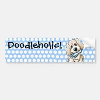 Beach Baby Doodle Dog Bumper Sticker