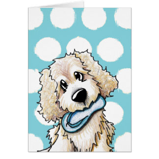 Beach Baby Doodle Dog Greeting Card