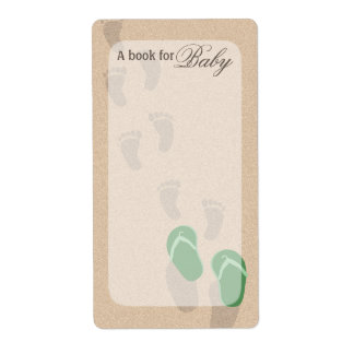 Beach Baby Footprints Book Tags