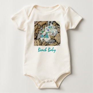 Beach Baby Infant gifts Fossils Shells Baby Bodysuit