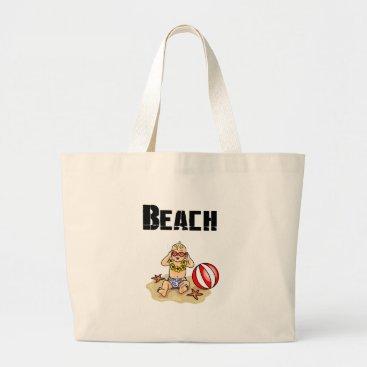Beach Themed Beach Baby Large Tote Bag