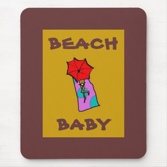 BEACH BABY - mousepad