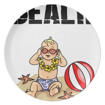 Beach Themed Beach Baby Plate