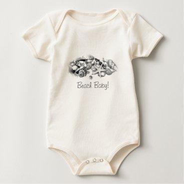Beach Themed Beach Baby Shells & Starfish Shirt