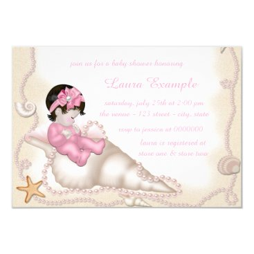 Beach Themed Beach Baby Shower Card