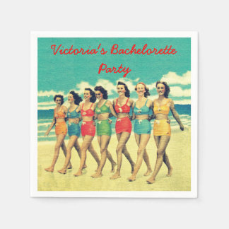 Beach Bachelorette Party party cocktail napkins