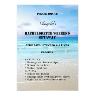 Beach Bachelorette Weekend Template Invitation