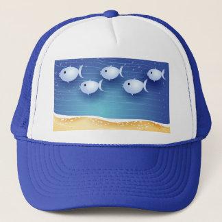 Beach background, hat