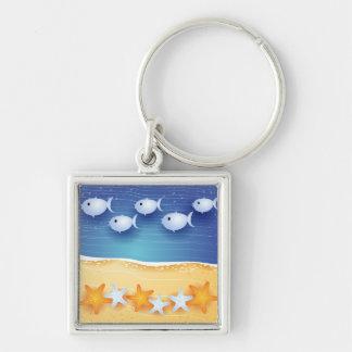 Beach background, keychain