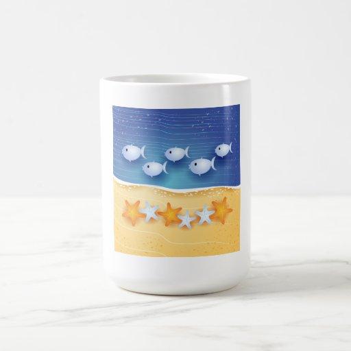 Beach background, mug
