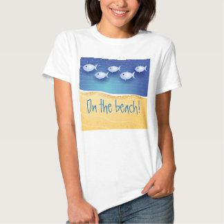 Beach background, shirt