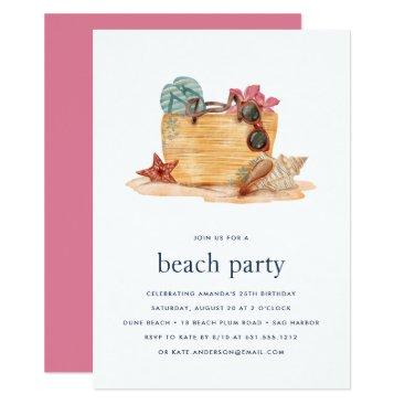 Beach Bag | Beach Party Invitation