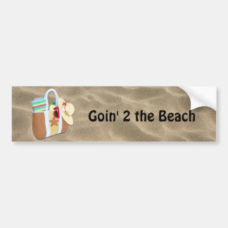 Beach Bag Bingo Bumper Sticker