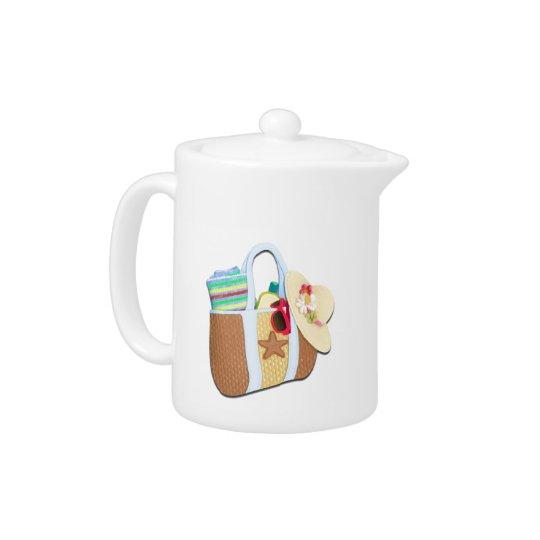 Beach Bag Bingo Teapot