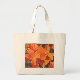 Beach Bag, CA Poppies # 3484 Large Tote Bag