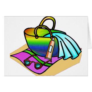 Beach Bag on the Beach Card