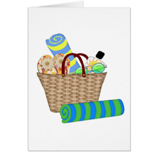 Beach Bag Towels and Flip Flops Card