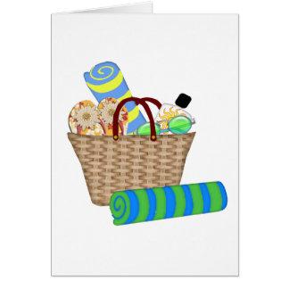 Beach Bag, Towels and Flip Flops Greeting Card