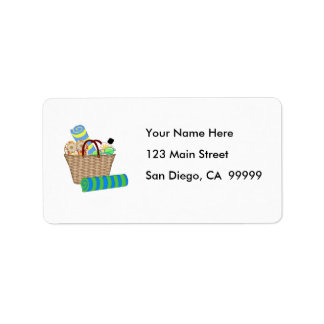 Beach Bag & Towels Personalized Address Label