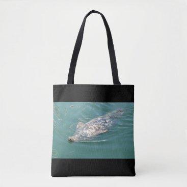 Beach Themed Beach Bag with cute Seals Photos Tote Bag