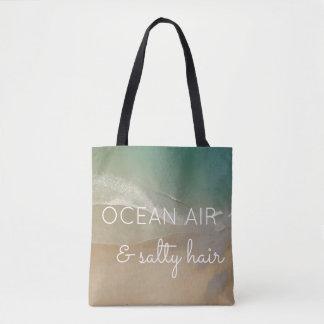 Beach Bag with Ocean Background