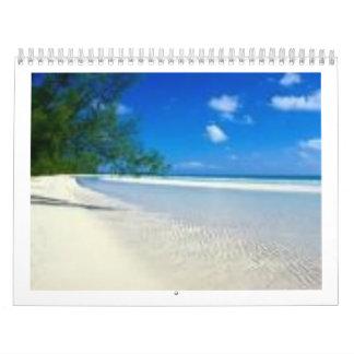 beach, Bahamas Calendar
