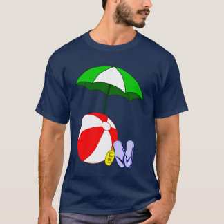 Beach Ball and Pool Umbrella Vacation T-shirt