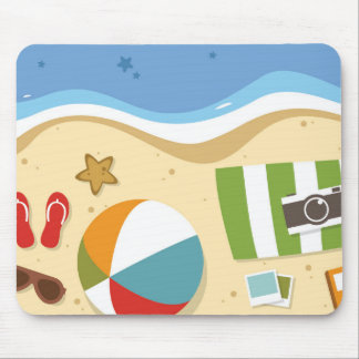 Beach ball and stuff mousepad