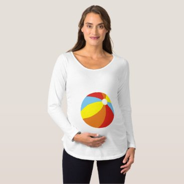 Beach Themed Beach Ball Baby Maternity T-Shirt